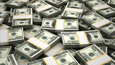Stack of American Dollar - stock footage