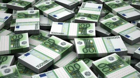 Stack of Euro - stock footage