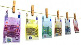 Drying Euros (Loop + Matte) - editable clip, motion graphic, stock footage