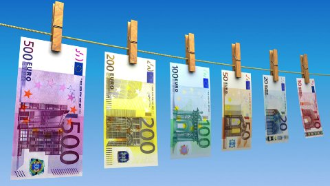 Drying Euros (Loop) - stock footage