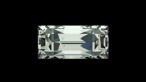 Baquette cut diamond - stock footage