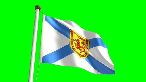 Nova Scotia flag - stock footage