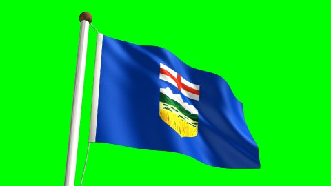 Alberta flag - stock footage