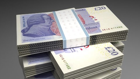 Stack of Pound - stock footage