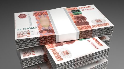 Stack of Russian Ruble - stock footage