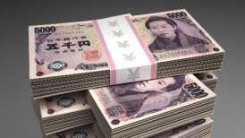 Stack of Japanese Yen - motion graphic