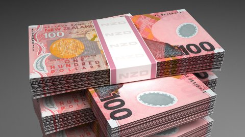 Stack of New Zealand Dollar - stock footage