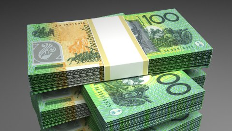 Stack of Australian Dollar - stock footage