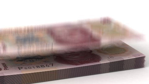 Money Fall Mexican Pesos - stock footage