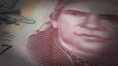 Mexican Pesos Close-up - stock footage