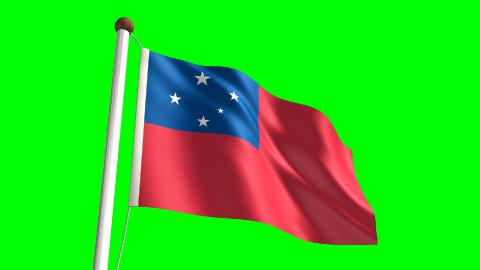 Samoa flag - stock footage