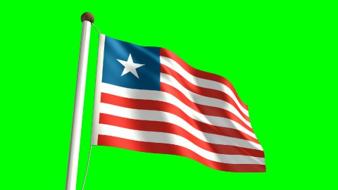 Liberian flag - stock footage