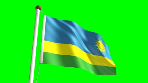 Rwandan flag - stock footage