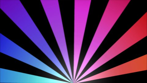 Rotating Stripes Background Animation - Loop Rainbow - stock footage
