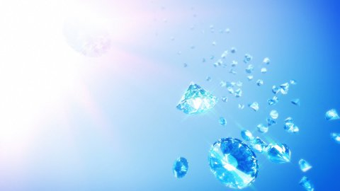 Diamonds Sky Background (Loop) - stock footage