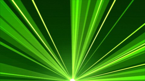 Rotating Light Beams Animation - Loop Green - stock footage
