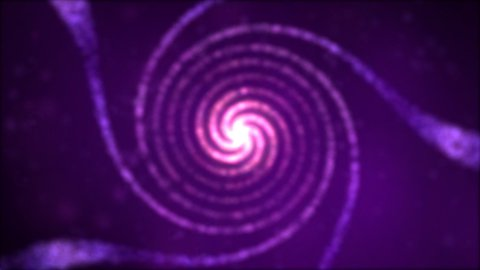 Particle Spiral Swirl - Loop Violet - stock footage