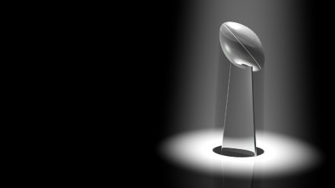 Football Trophy Spotlight - stock footage