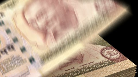 Counting Indian Rupee - stock footage