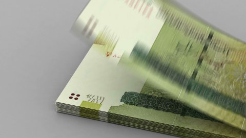 Counting Iranian Rial - stock footage