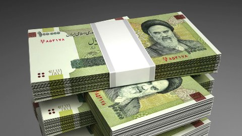 Stack of Iranian Rial - stock footage