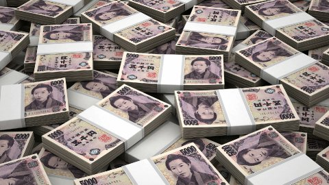 Stack of Japanese Yen - stock footage