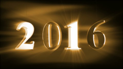 New Year 2016 - stock footage