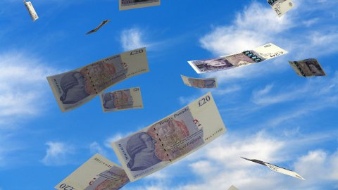 Falling English Pound - stock footage
