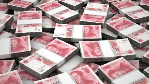 Stack of Chinese Yuan - stock footage