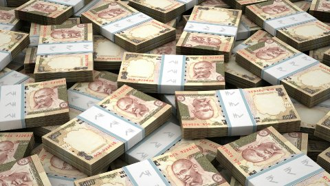 Stack of Indian Rupee - stock footage