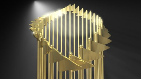Golden Flags Trophy - stock footage