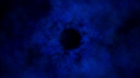 Blue clouds tunnel fly through. Seamless loop. - stock footage
