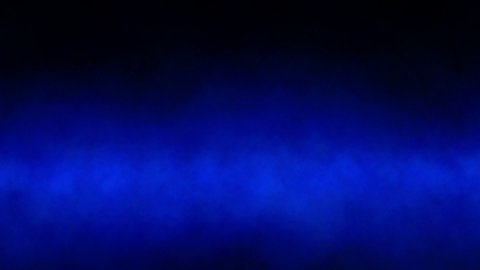 Blue smoke abstract background loop. Camera fly through. - stock footage