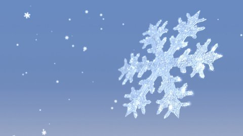 Snow Flake Crystal and Flurries - stock footage