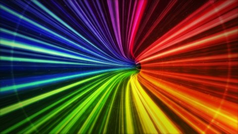 Colorful tunnel. Very fast intensive flight through. Easy to loop - stock footage
