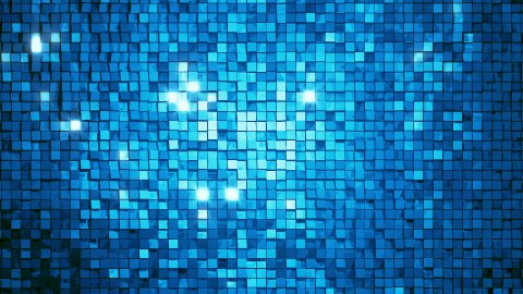 Blue square blocks background animation throwing glares. Seamless loop. 4k - Ultra HD. - stock footage