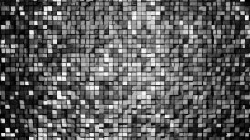 Gray metallic square blocks background animation throwing glares. Seamless loop. 4k - Ultra HD.