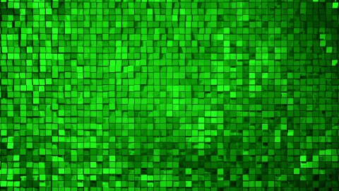 Green square blocks background animation. Seamless loop. 4k - Ultra HD. - stock footage