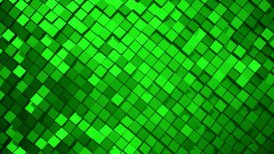 Green metallic square blocks background animation. Seamless loop.