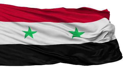 Isolated Waving National Flag of Syria - stock footage