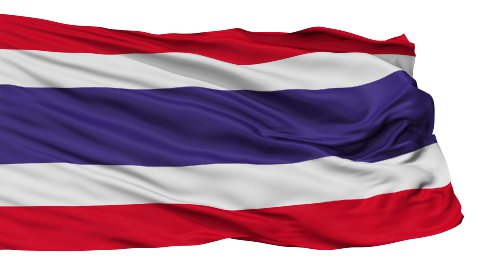 Isolated Waving National Flag of Thailand - stock footage
