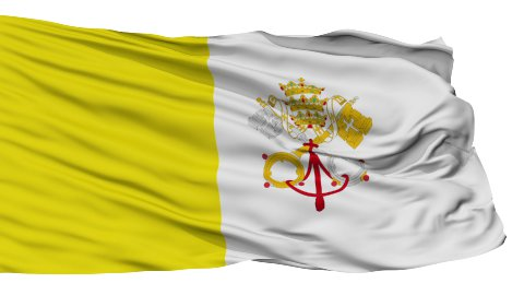 Isolated Waving Flag of Vatican City - stock footage