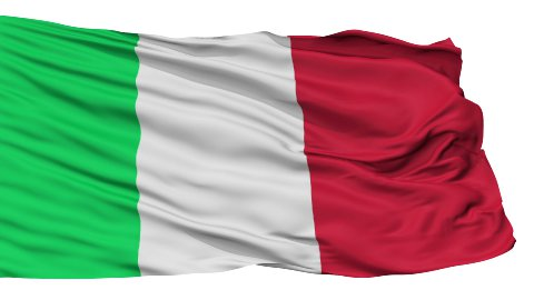 Isolated Waving National Flag of Italy - stock footage