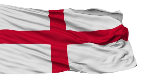 Isolated Waving National Flag of England - stock footage