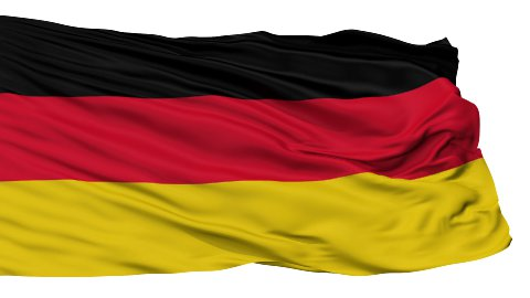 Isolated Waving National Flag of German - stock footage