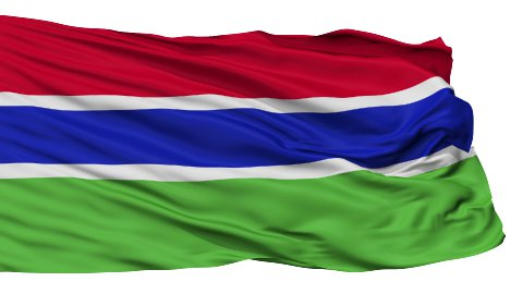 Isolated Waving National Flag of Gambia - stock footage