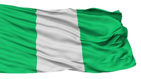 Isolated Waving National Flag of Nigeria - stock footage