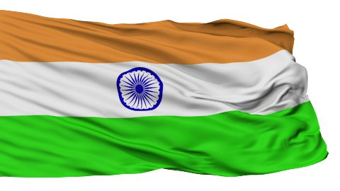 Isolated Waving National Flag of India - stock footage