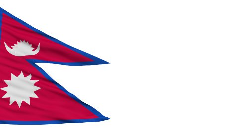 Isolated Waving National Flag of Nepal - stock footage
