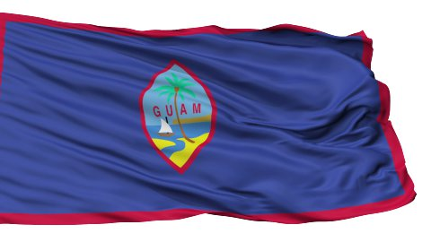 Isolated Waving National Flag of Guam - stock footage